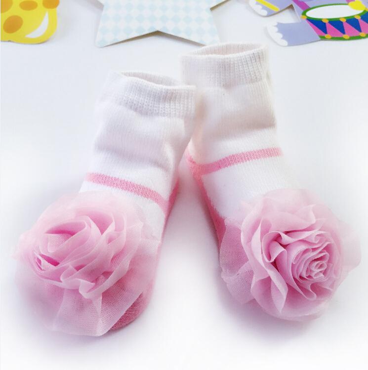 Calcetines de Navidad caliente nuevo de la niña dulce creativa linda 3D Calcetines florales Fairy Princess