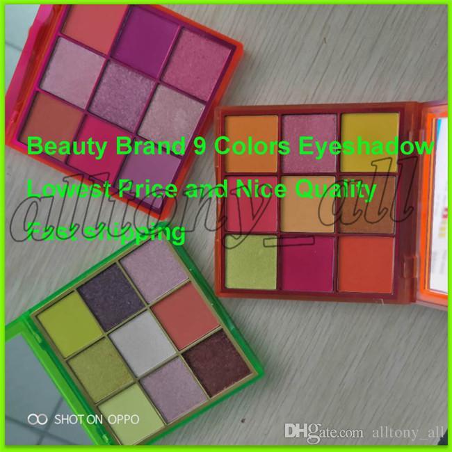Le plus récent Beauté Marque Eyeshadow NEON 3 Styles 9 couleurs Matte Shimmer Eyeshadow Cosmetics Livraison gratuite