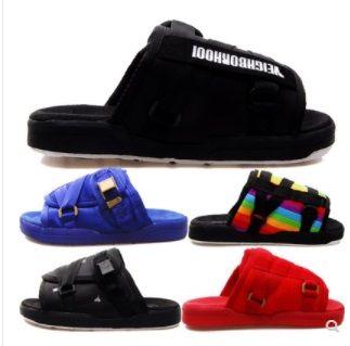 Nouveaux pantoufles Visvim Chaussures de mode Homme et femmes Amants Casual Chaussures Chaussons Beach Sandales Pantoufles en plein air Sandales de rue Hip-Hop Street