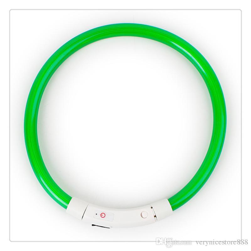 Hundehalsband LED USB wiederaufladbar wasserdicht leuchten Kragen Nacht Sicherheit leuchtende Haustier Halsbänder für kleine, mittelgroße, große Hunde gute Qualität