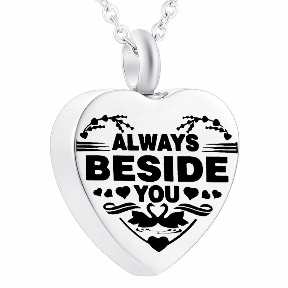Wholesale Cremation Jewelry For Ashes For Loved Ones Always Beside You Heart Urn Necklace Memorial Pendant With Filler Kits Coin Pendant Necklace Anchor Pendant Necklace From Misyoujewelry 3 14 Dhgate Com