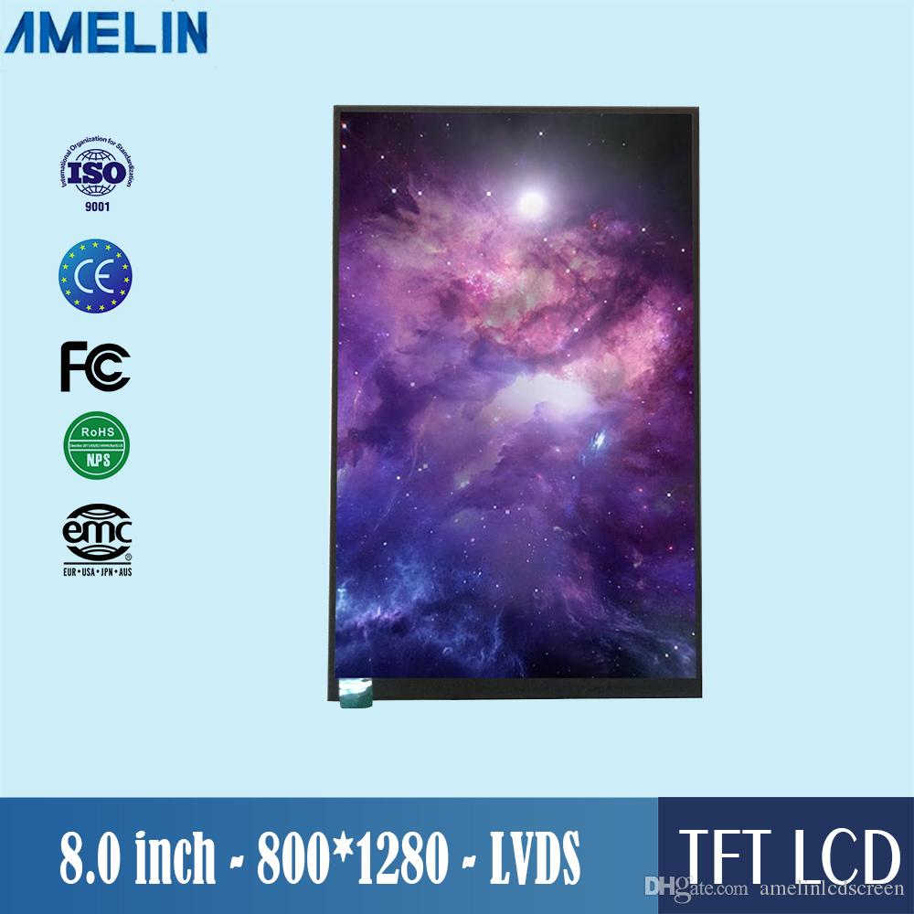 Écran de module LCD TFT 800 * 1280 haute résolution de 8 pouces avec écran à interface LVDS et angle de vue IPS