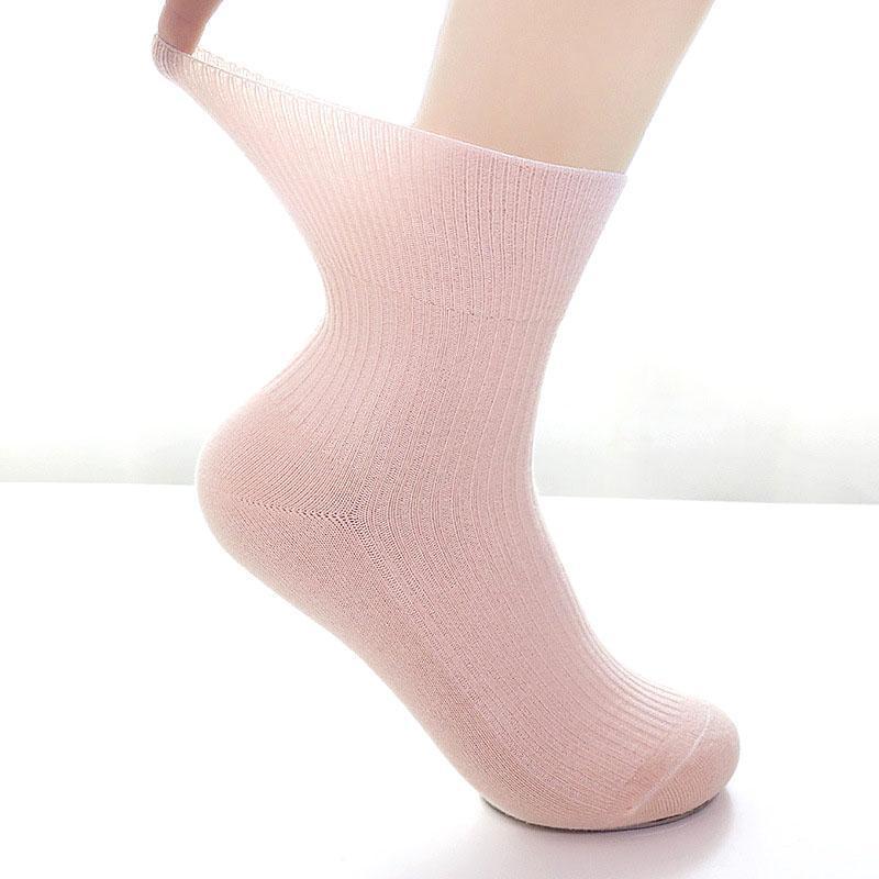 10PCS = 5 pares Outono Inverno meias de algodão grávidas Meias Maternidade Hipertensão diabéticas sem topo ligação