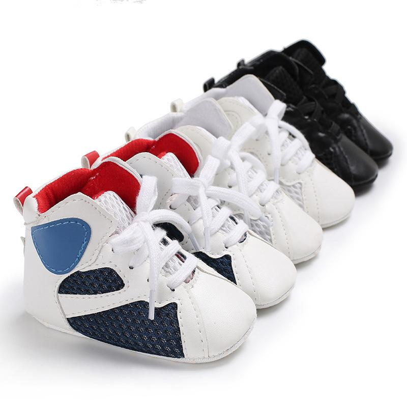 Wholesle 30 Pairs Baby Shoes Casual 0-1 years Boy Girls High-top Sports Soft-soled Non-slip Toddler Sneakers First Walkers