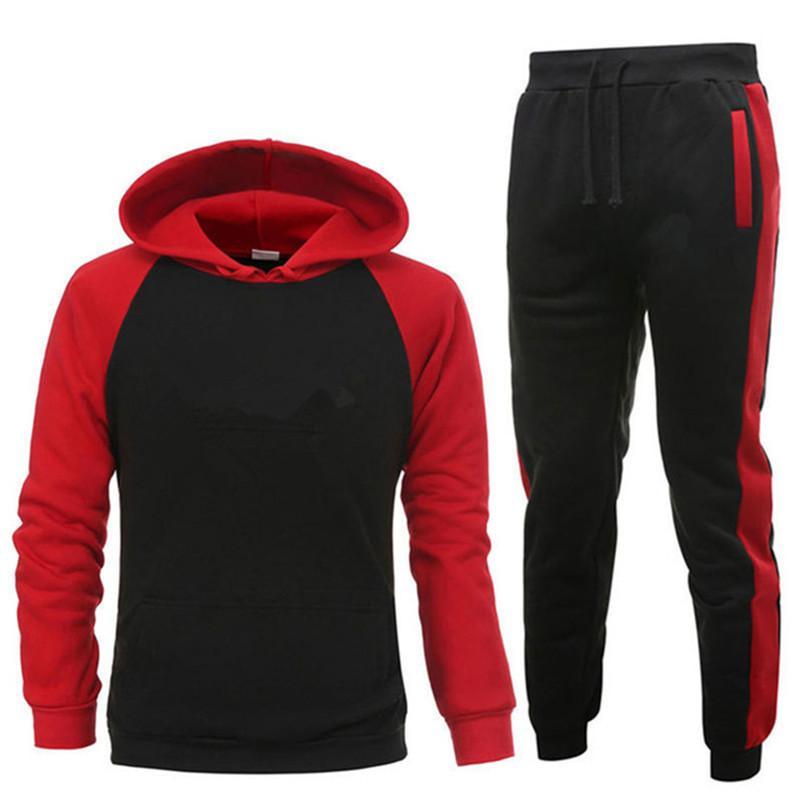 Marque Vêtements Sets hommes Deux Pièces Casual Sweat à capuche pour hommes en coton Survêtement + Pantalons Sport Chemises Automne Hiver Set T200330