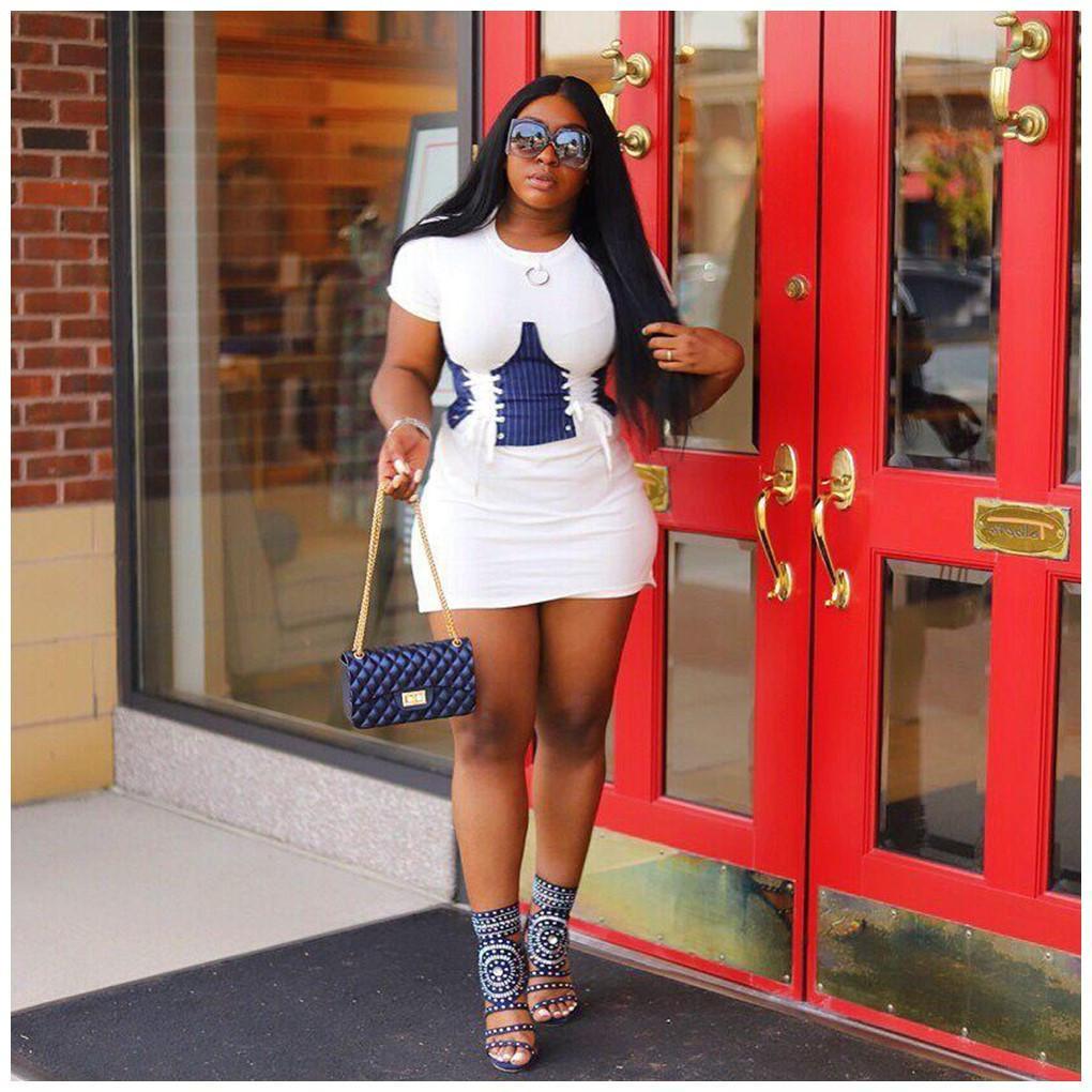 Europa y América encantador de la manera elegante de ocio y glúteos vestido mini vestido elegantes vestidos de ropa de las mujeres
