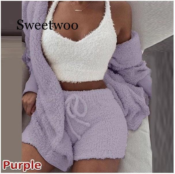 Malha 2 peças set curto macacão romper Mulheres outono suave e quente sexy playsuit Inverno macacão feminino plus size clube