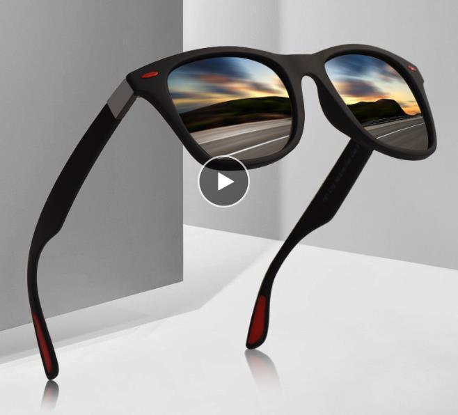 NEW DESIGN Ultralight TR90 Polarized Sunglasses Men Women Driving Square Style Sun Glasses Male Goggle UV400 Gafas De Sol