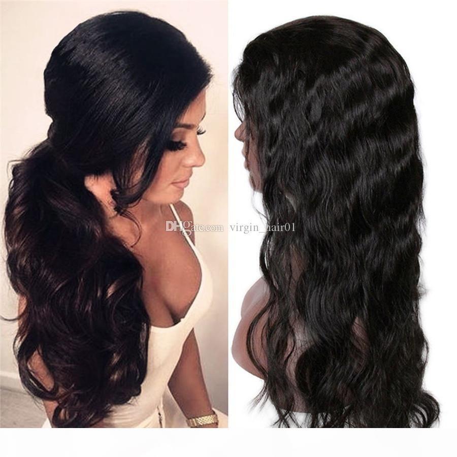 Wet ondulado Cabelo Humano Perucas Por Negras onda do corpo completa Lace perucas e rendas frente perucas 8-30 Inch Aceitar Glueless Wig