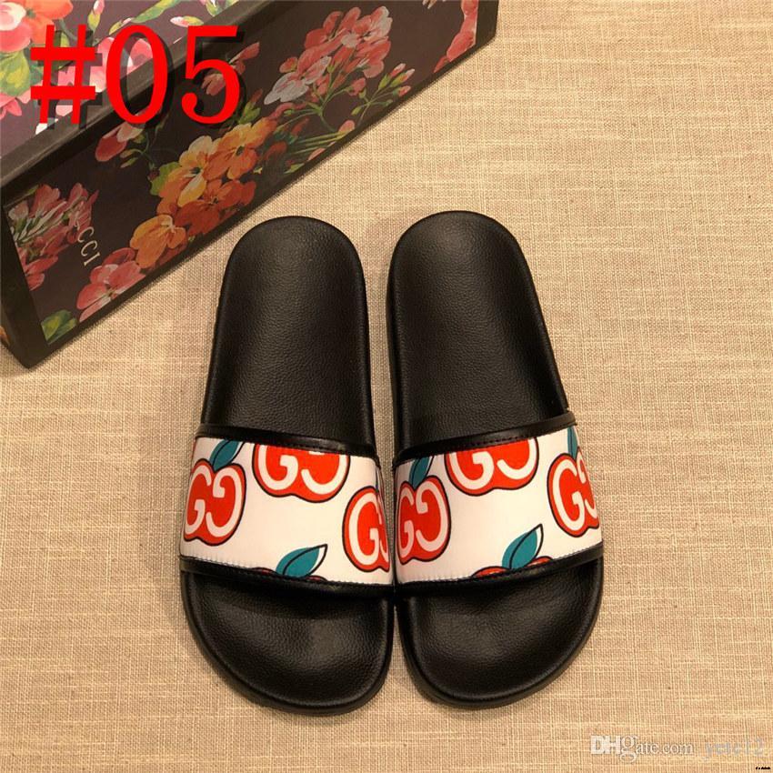19SS мужские тапочки повседневная вышивка высококачественная кожаная обувь летние пляжные сандалии дизайнерский Животный узор черные кожаные сандалии