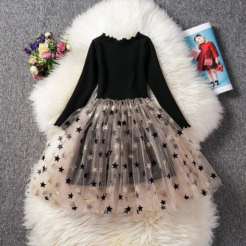 Girls Summer Tutu Dress Baby Girl Cute Cartoon Bunny Set Long Sleeve T-Shirt+Veil Dress 2Pcs Girls Easter Dress