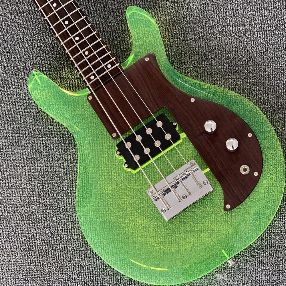 무료 shippingHigh 끝 품질 아크릴 바디 4string 댄 암스트롱의베이스 기타 전기 기타 Guitarra