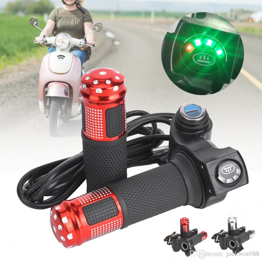 1 Pair Durable LED Voltage Display Twist Throttle Tools for 12-99V Ebike Scooter