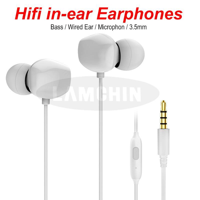 AL-8163 Audio Kopfhörer 1.2M Kopfhörer Schwere Bässe Geräuschunterdrückung Audio In-Ear Freisprecheinrichtung mit Mikrofon und Lautstärkeregler