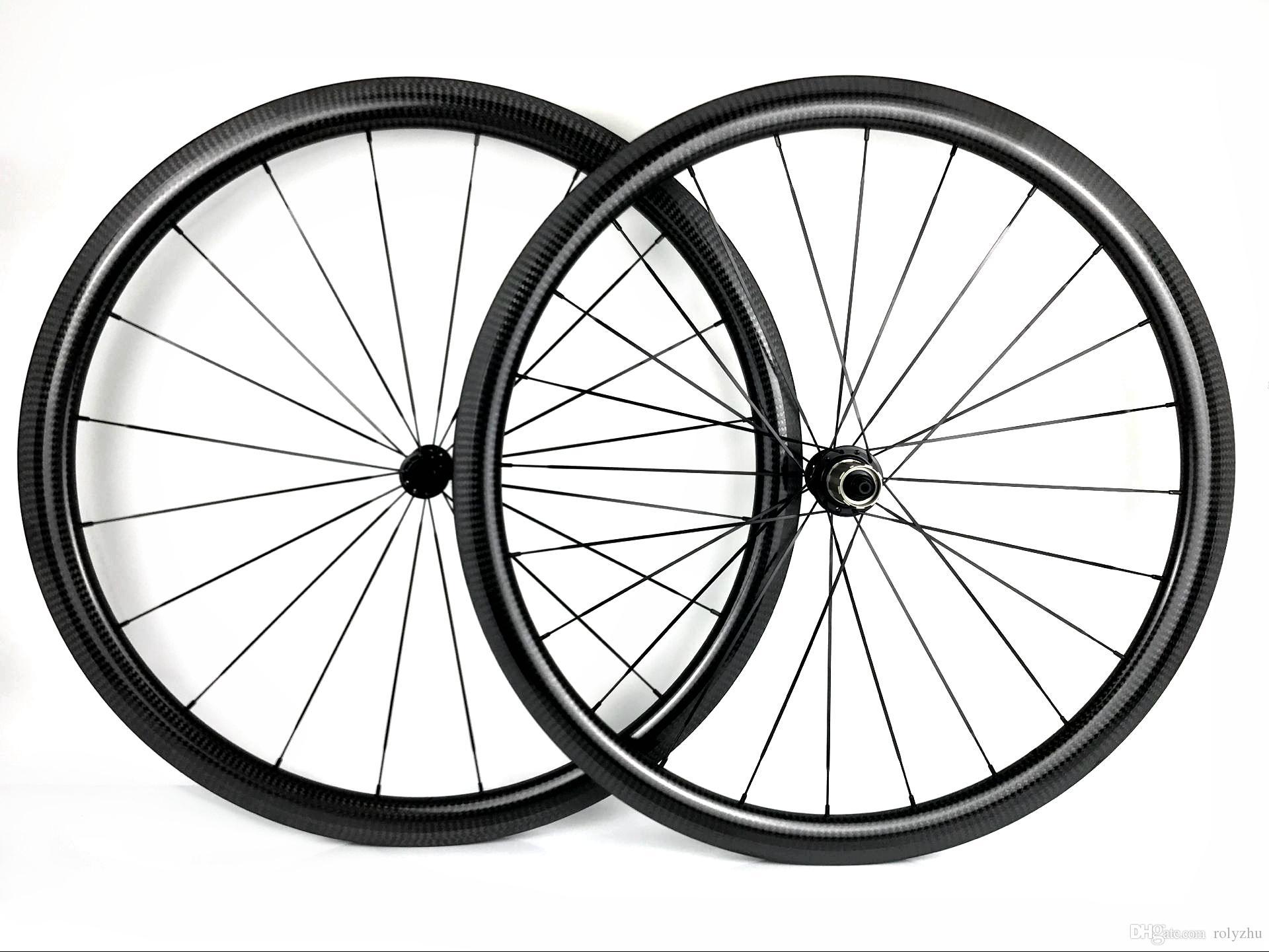 URLTRA-Light 700c 38mm Profondeur Roues en carbone de 25 mm Largeur de la largeur Vélo de bicyclette de la route R13 HUBS 3K Twill Glossy Fini Livraison Gratuite
