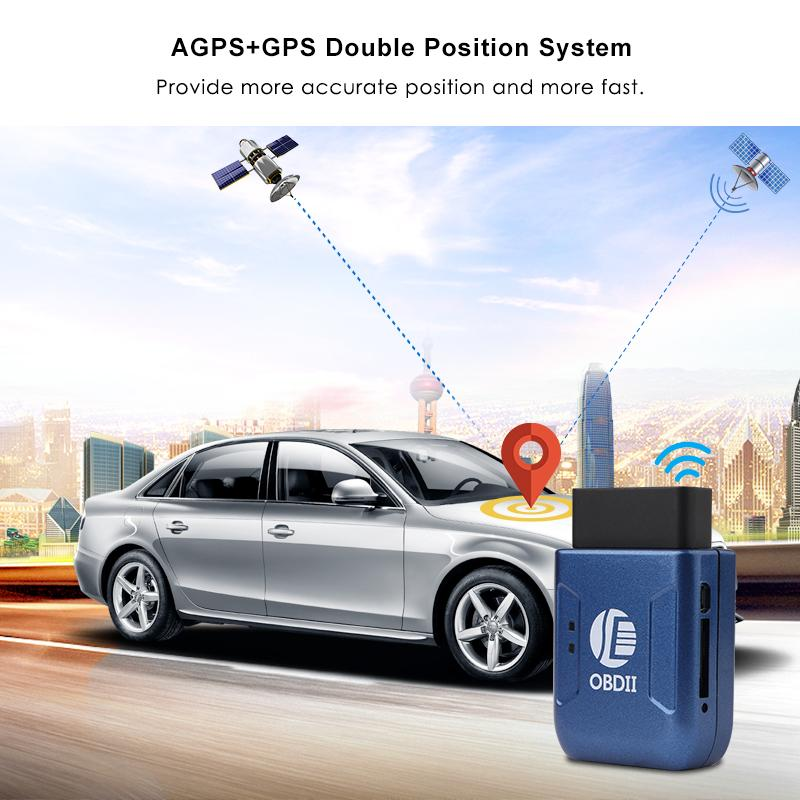 OBD2 GPS Tracker Car Tracker Real-time GSM Tracking Device TK206 Geo-fence Over-speed Vibration Move Alarm Web APP Tracking in retail box