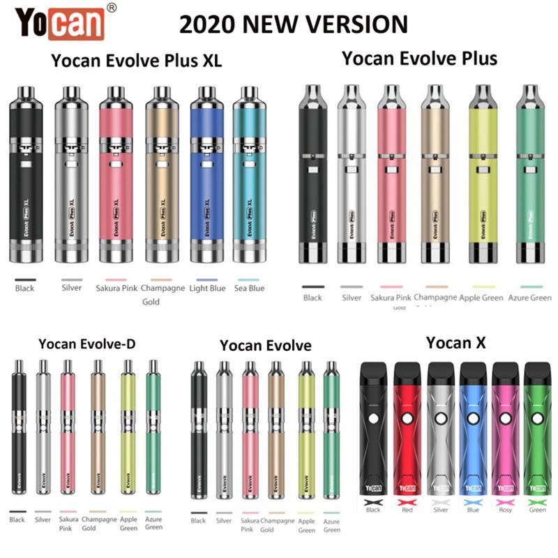 정통 Yocan Evolve Plus Evolve Plus XL Yocan X 왁스 vape 펜 Evolve-D 마른 허브 기화기 키트 전자 담배 키트 100 % 원래