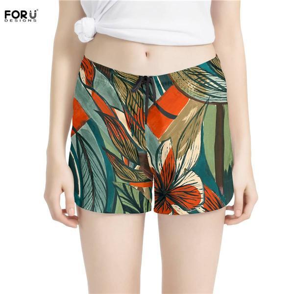 Tropical Flowers Casual Summer Beach Board Shorts Pants Men Teens