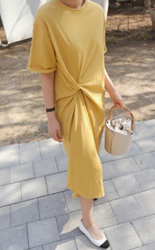 Skirt Summer Girl 2019 New Leisure Gentle Fairy Skirt Received Waist Large Size Hidden Meat Dress Reduced Age T-shirt Long Skirt