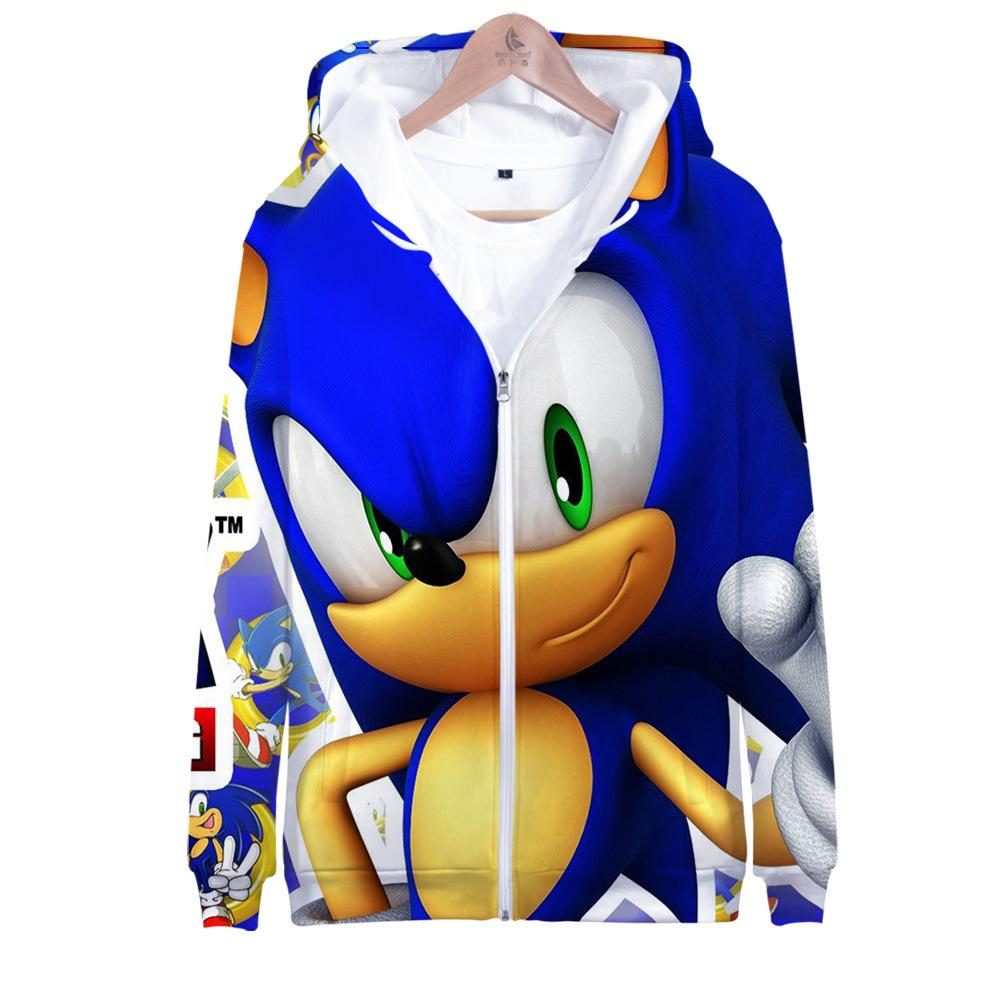 2020 Anime Sonic The Hedgehog 3d Print Women Men Hoodies Sweatshirts Streetwear Hip Hop Zipper Hooded Jacket Funny Clothes Cosplay From Zhouzhaoyu 13 43 Dhgate Com