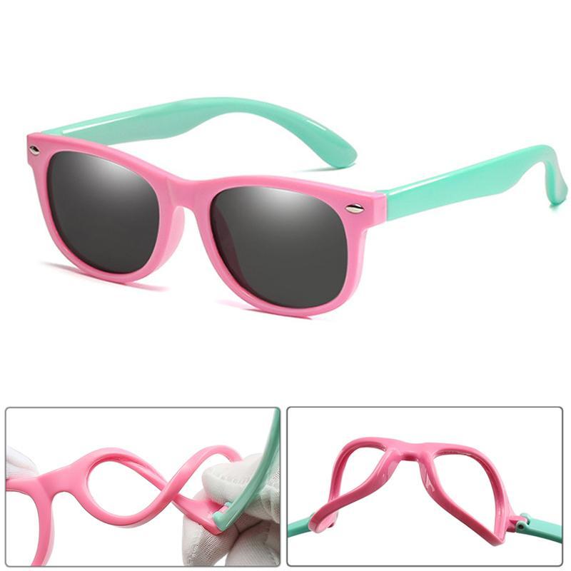 الأطفال هلام السيليكا المستقطبة بنين طفلة غير قابلة للكسر لينة سيليكون السلامة نظارات شمسية 100٪ UV400 نظارات الطفل ظلال Oculos