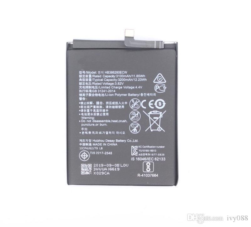 "10PCS / LOT 3200mAh بطارية استبدال البطارية HB386280ECW لهواوي الشرف 9 STF-L09 STF-AL10 لهواوي P10 5.1 ""بوصة بطاريات"