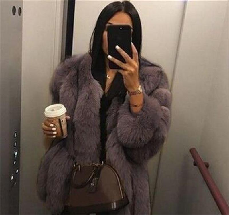 럭셔리 여성 디자이너 코트 패션 가짜 모피 긴 소매 두꺼운 따뜻한 코트 겨울 플러스 사이즈 여성 자켓