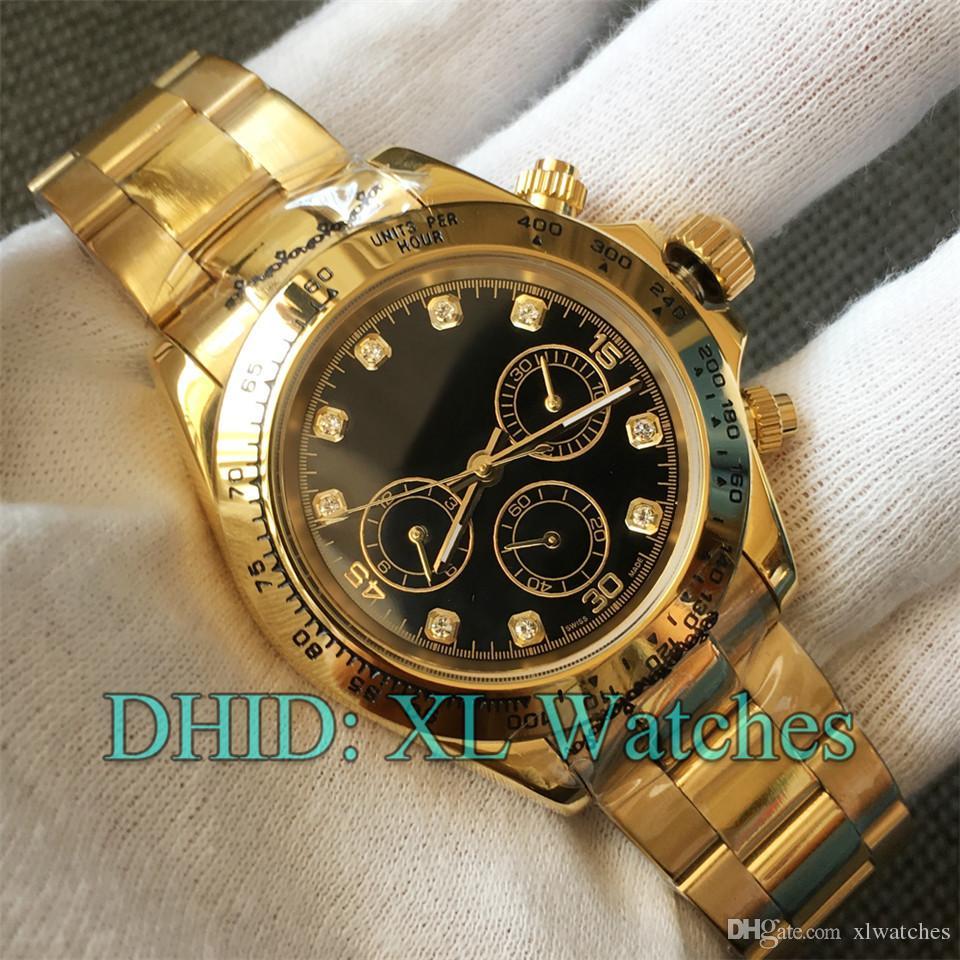 18 Styles Luxury Watch Designer Mechanical Automatic Watches 116500 Polished Gold 316L Stainless Steel Case Bracelet Adujsut Folding Buckle Wrist