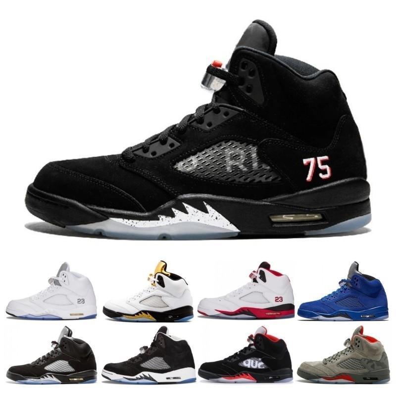 Новейший Свет Аква Laney 5 5s Мужчины Женщины Баскетбол обувь International Flight Огонь Красный Синий Suede белый цемент Дешевые Спорт Sneaker Размер 36-47