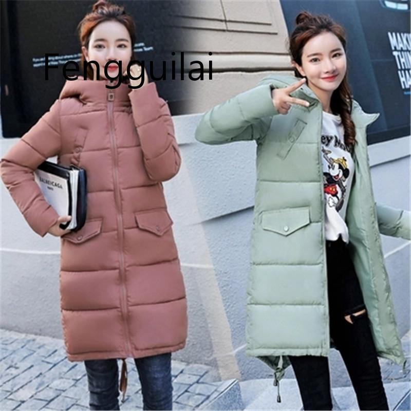 sezione cappotto lungo 2020 nuove donne del cotone delle donne dei vestiti di cotone grande inverno dimensioni di spessore