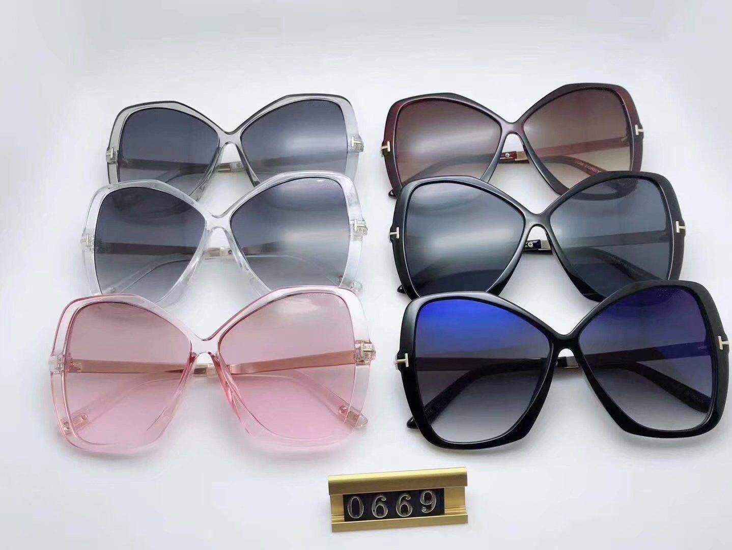 2020 luxe Top qualité New Mode féminine 0669 Lunettes de soleil pour homme femme Erika Lunettes Ford Designer Marque Lunettes de soleil avec boîte d'origine