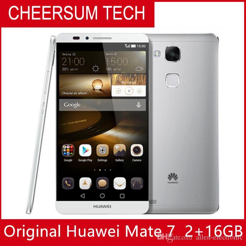 """Firmware global Huawei Ascend Companheiro 7 4G celular LTE Anroid 4.4 6.0 """"FHD 1920X1080 3GB de RAM 32GB ROM 4000mAh NFC de impressão digital"""