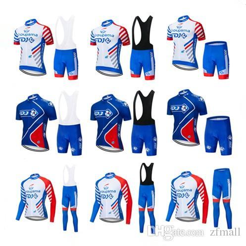 Free Shipping 2019 New Team FDJ Men Cycling Jersey Kits summer Winter Road Bike Clothing Set Outdoor Bicycle Sportswear