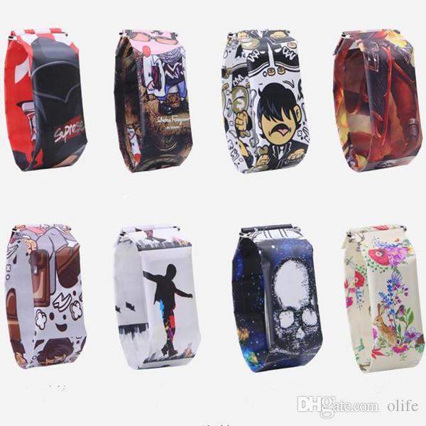 Hot 20 projetos Inteligente Relógio de Papel Criativo À Prova D 'Água Tyvek Magnetic LED Digital Pulseiras Relógios Casuais Pulseira para Crianças meninas Presente Das Mulheres
