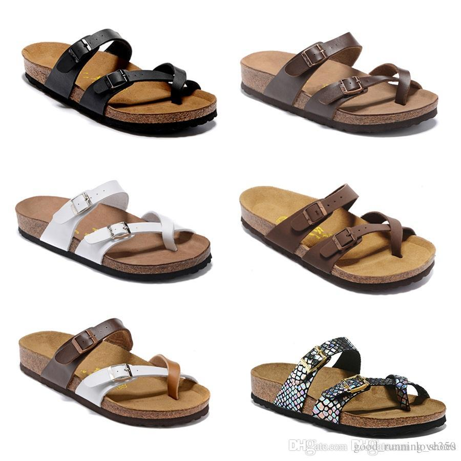 Mayari Floride Arizona 2019 Vente Chaude Été Hommes Femmes appartements sandales Liège pantoufles unisexe casual chaussures Plage pantoufles taille 34-46