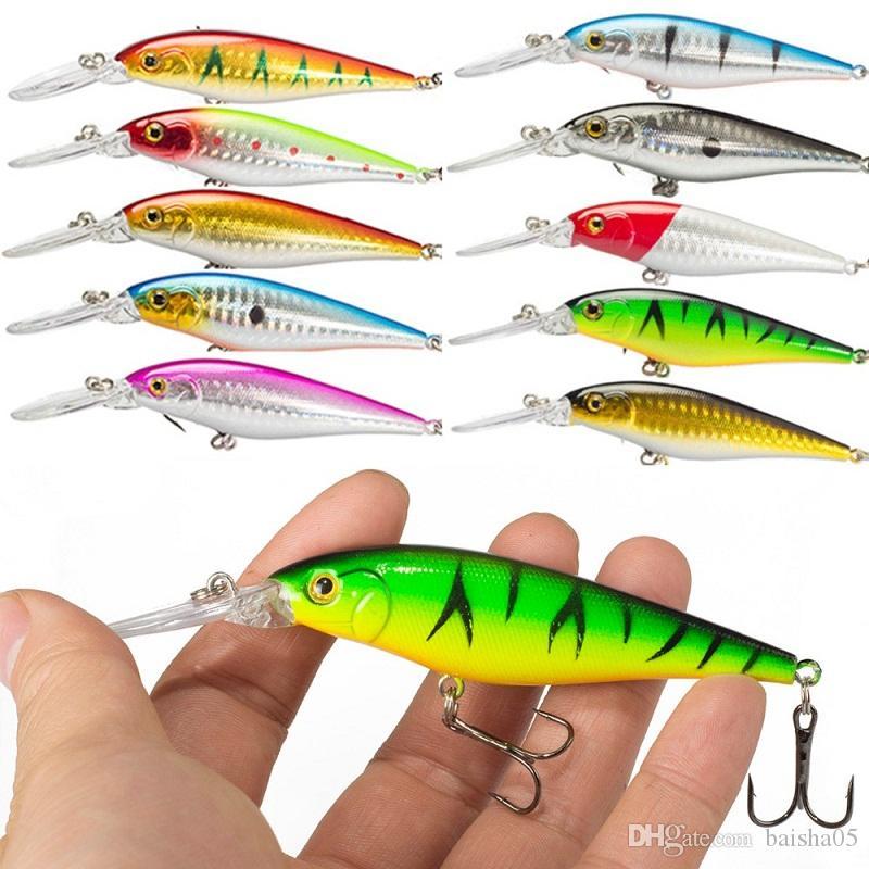 Leurre de pêche 1pcs Pike Bait Minnow 11cm 10.5g Jerkbait Deep Swim Wobblers Crankbai M01