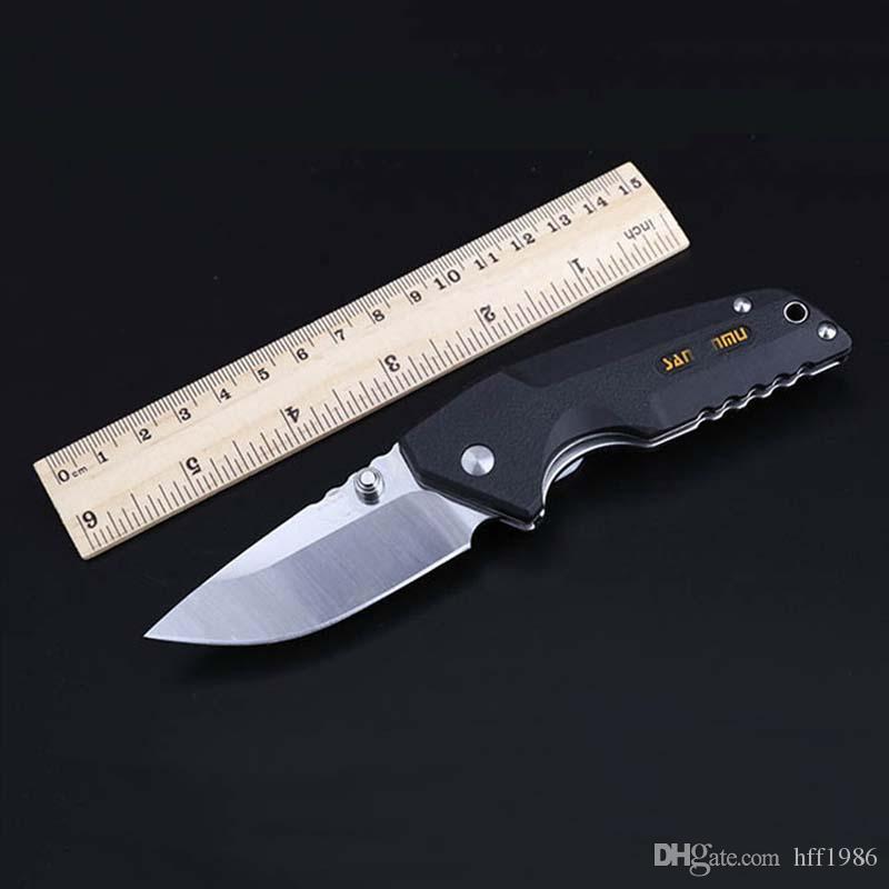 High hardness brand three-edged wood folding knife 8Cr14MoV blade PA66 + GF handle Pocket knifes self defense edc Hunting Automatic knives