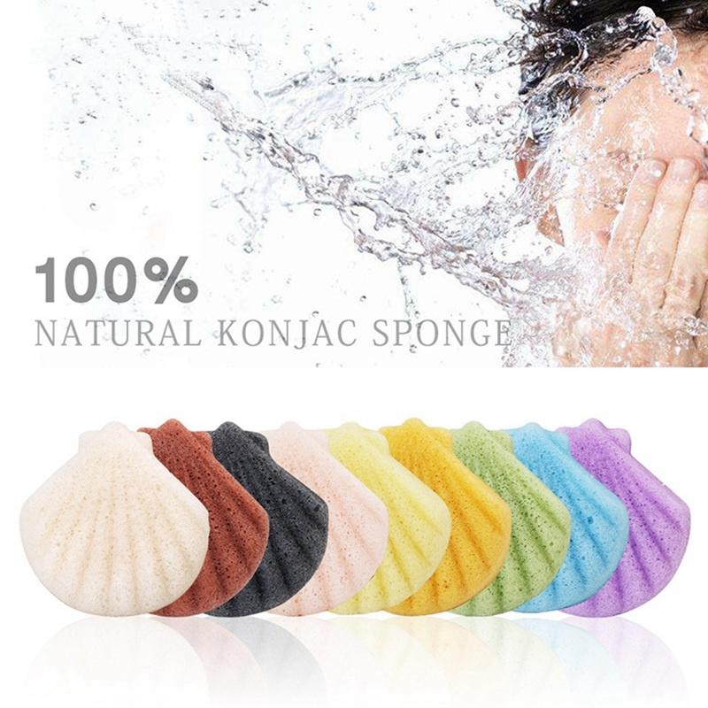 2020 Shell Konjac Facial Puff Face Cleanse Washing Sponge Konjac
