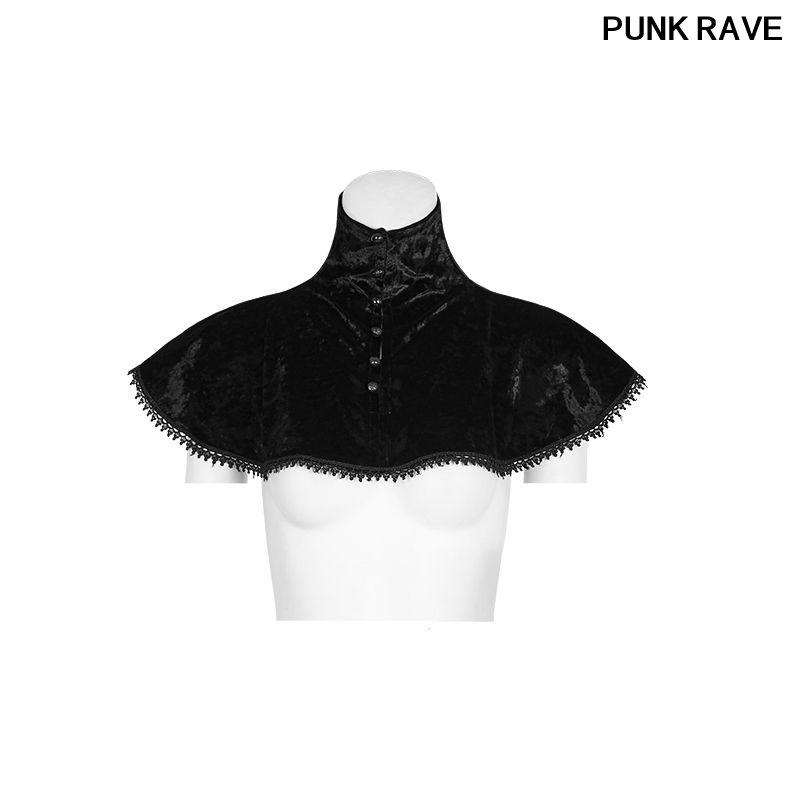 Moda kadın zarif dantel ve düğmeler elmas kadife Şal Gotik günlük Küçük Şal PUNK RAVE Y-793 Tops