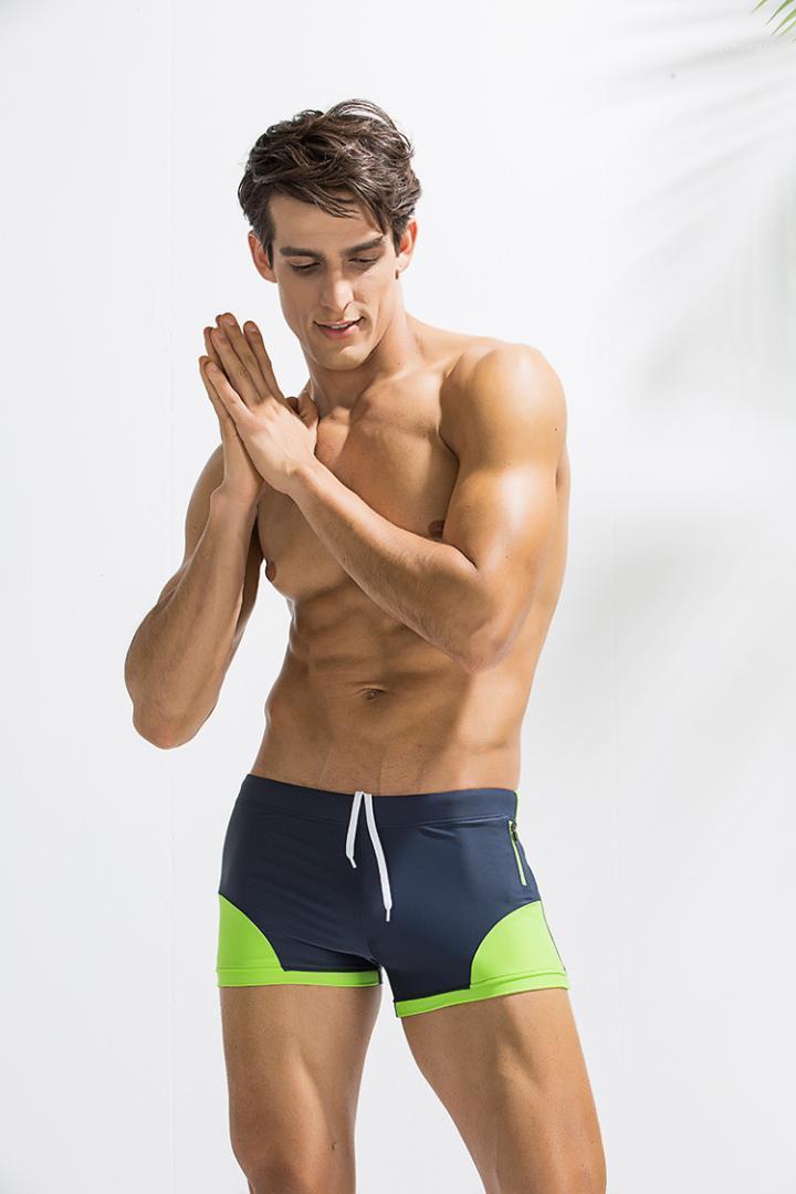 Imprimir cortocircuitos de la manera masculino con paneles corto Casual para hombre ropa de cintura elástica Diseñador Bañador de natación del traje de baño de verano