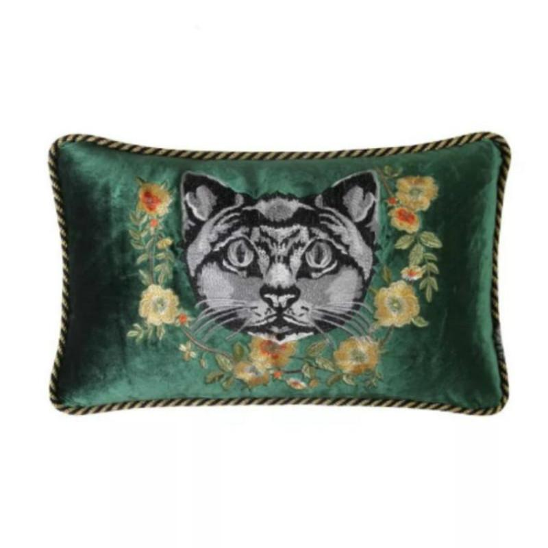 Home Decor Embroidered Handmade Pillow Case European Decorative Sofa Throw *women Velvet Cushion Cover Palace Style