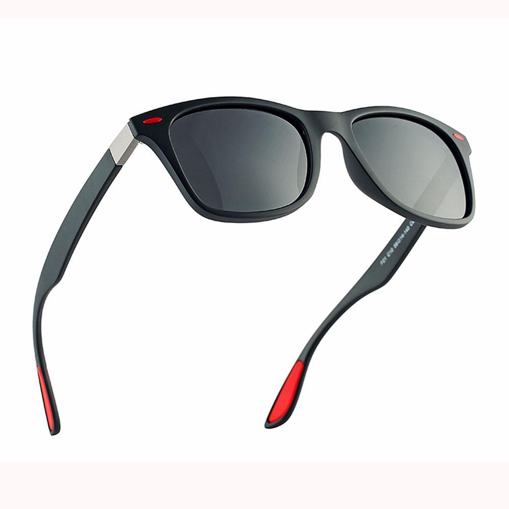 Gafas de sol Men Square UV400 polarizado sombras para las mujeres de moda de la vendimia 2019 Marca gafas retro Diseñador Masculino Accesorios Polar
