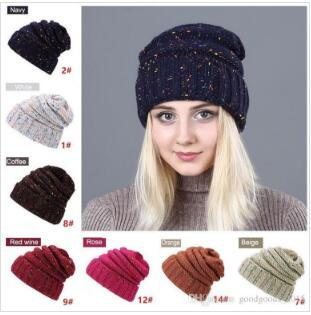 New Mode féminine chapeau chaud d'hiver pour les femmes tricotée hiver Chapeau Femme Bonnets Casquettes Skullies Bonnets