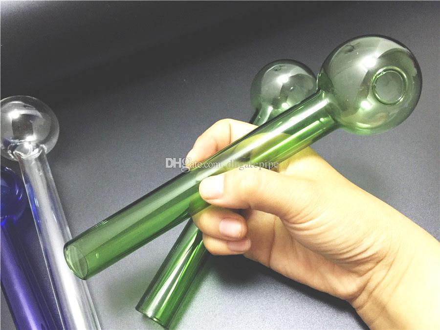 Grande dimensione Grande vetro Pyrex Bruciatore a gas Tubo da 20 cm lunghezza 50mm palla di vetro Tubo di olio Tubo Tubo di vetro per unghie all'ingrosso