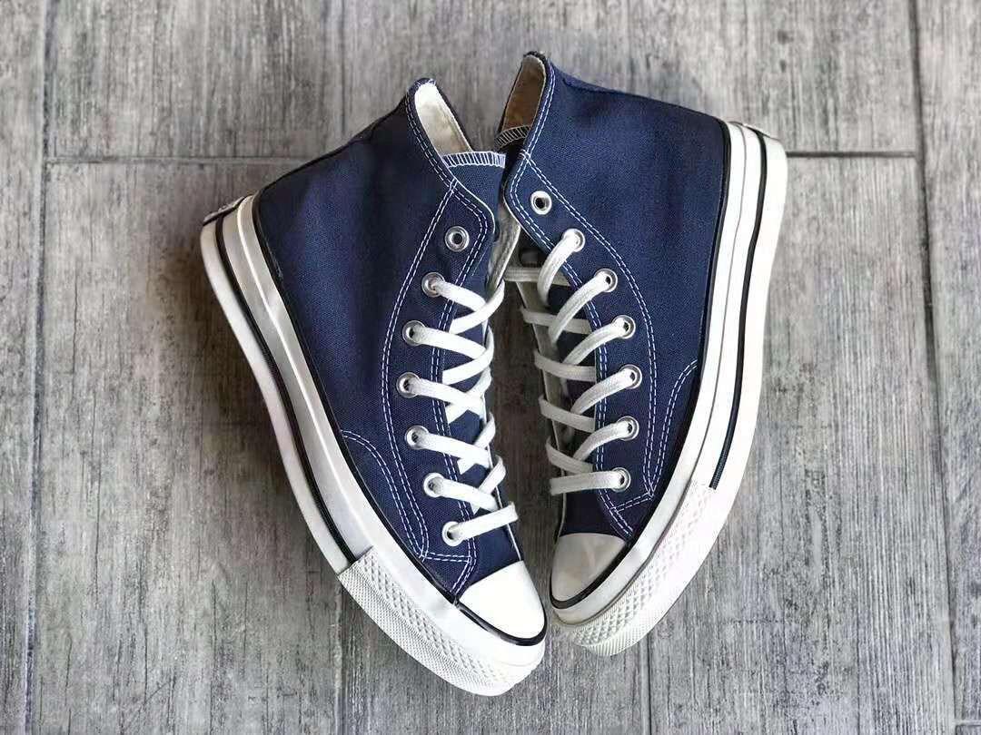 2020 1970 All Star moda Homens Mulheres lona alpercatas triplo da listra azul escuro preto estrela Casual calça as sapatilhas 36-447bbf #