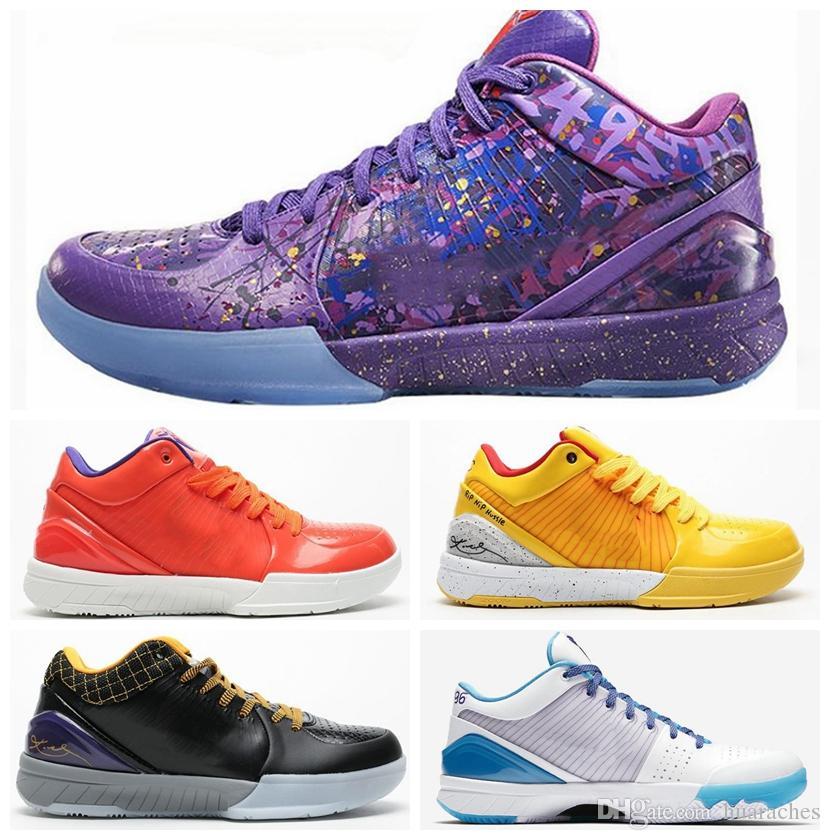 Zoom Kobe IV 4 Protro Draft Hornets dia Carpe Diem Del Sol Sports Basquetebol sapatos para homens Formadores ZK4 4s cestas Sports Sneakers