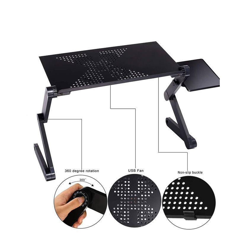 Auf Verkauf beweglicher faltender Laptop-Tisch Black USA Russland China Stock Sofa Büro Laptop Stand Schreibtisch-Computer-Notebook Nachttisch Bett