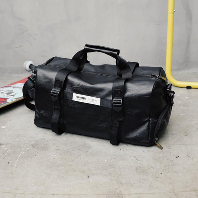 Fashion Mens Black Large Travel Gym Bag Weekend Overnight Duffle Bag Handbag