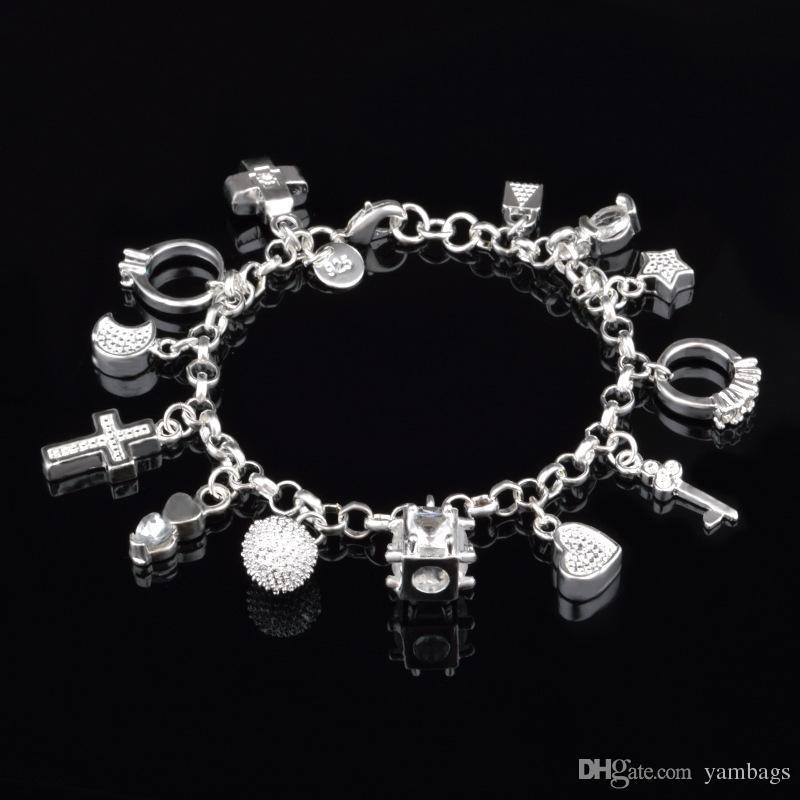 Beads And Stars Love Bracelet 925 Sterling Silver Womens Girls Jewellery Gift UK