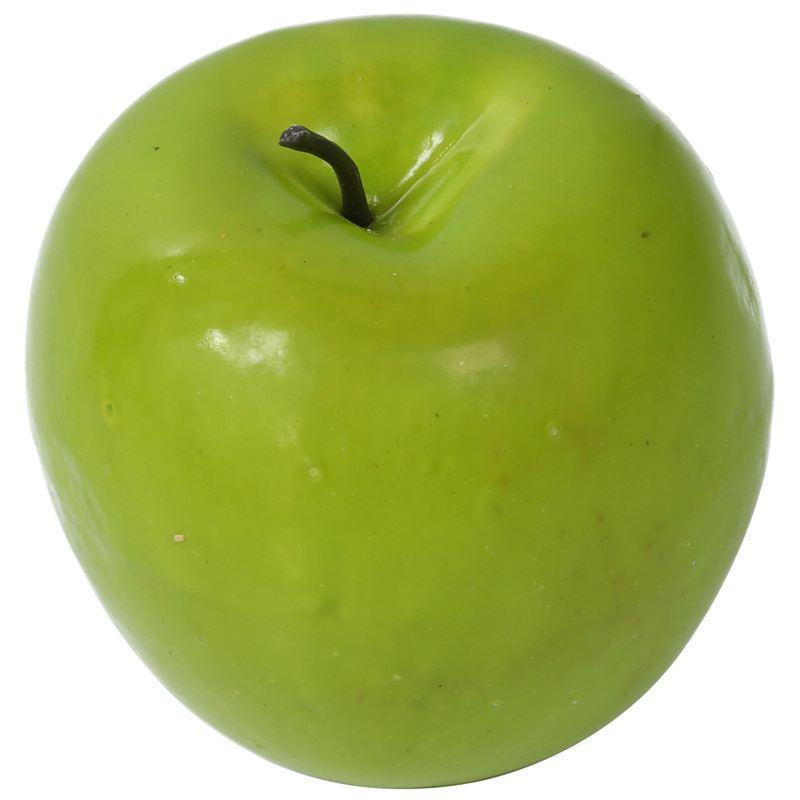 12 pezzi decorativi grandi frutti artificiali verde-mela di plastica del partito della casa Decor